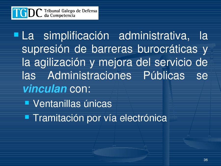 A directiva de servizos dende a vertente da competecia